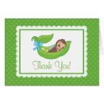 Sweet Little Monkey Pea Pod Thank You Note Card