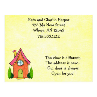 Sweet Little New Home Moving Address Cards Postcard