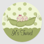 Sweet Little Pea Baby Twins Sticker