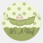 Sweet Little Pea It's A Boy Sticker
