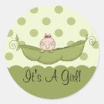 Sweet Little Pea It's A Girl Sticker