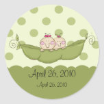Sweet Little Pea Twin Girls Baby Shower Sticker