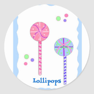Sweet Lollipops Classic Round Sticker