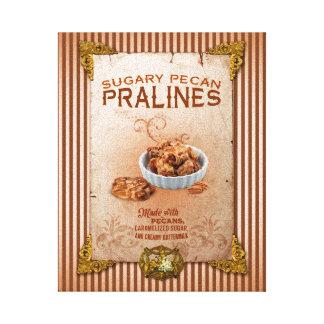 Sweet Louisiana Pecan Pralines Canvas Print