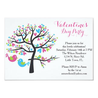 Sweet Love Birds Valentine's Day Party Card