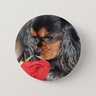 Sweet Love Cavalier King Charles Spaniel 6 Cm Round Badge