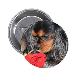 Sweet Love Cavalier King Charles Spaniel 6 Cm Round Badge