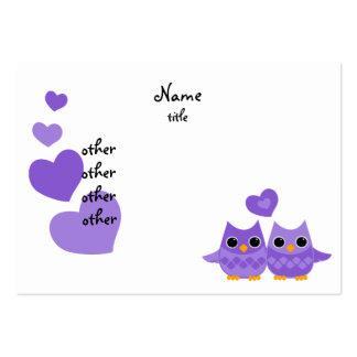 Sweet Love Owls Business Card Templates