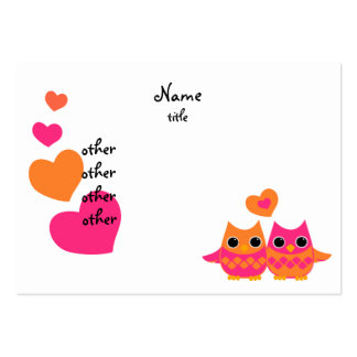 Sweet Love Owls Pack Of Chubby Business Cards