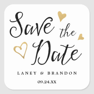 Sweet Love Save the Date Personalized Stickers