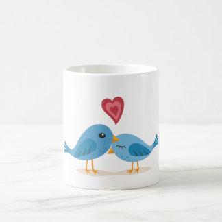 Sweet lovebirds coffee mug