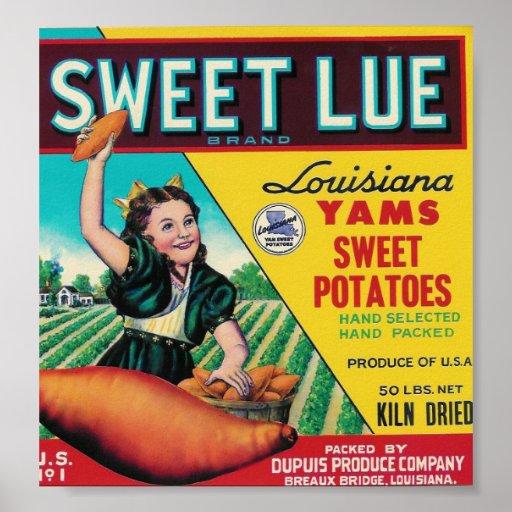 sweet lue yams poster