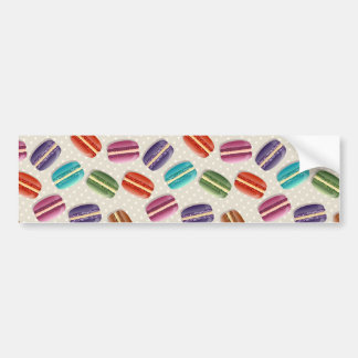 Sweet Macaron Cookies and Polka Dot Pattern Bumper Sticker
