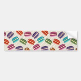 Sweet Macaron Cookies and Polka Dot Pattern Bumper Sticker