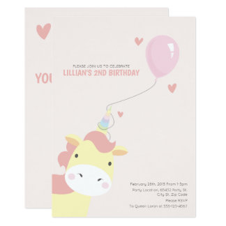 Sweet, Magical Birthday Unicorn Invitations
