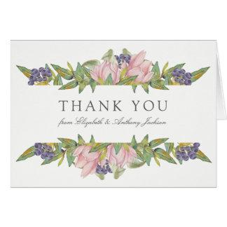 Sweet Magnolia Wedding Thank You Card