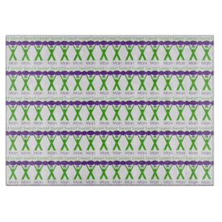 Sweet Man Funny Green and Purple Slogan Design Cutting Board