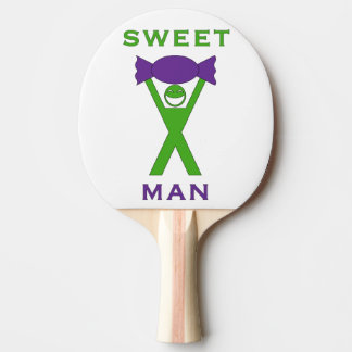 Sweet Man Funny Green and Purple Slogan Design Ping Pong Paddle