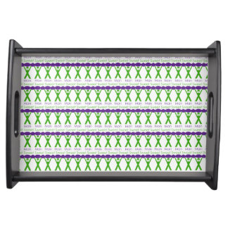 Sweet Man Funny Green and Purple Slogan Design Serving Tray