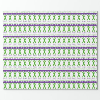 Sweet Man Funny Green and Purple Slogan Design Wrapping Paper