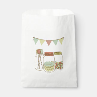 Sweet mason jar and garland party favor bag