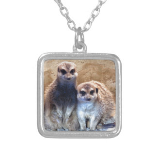 Sweet Meerkat Silver Plated Necklace