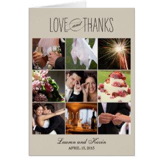 Sweet Memories Thank You Card - Khaki