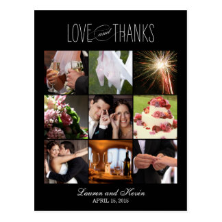 Sweet Memories Wedding Thank You Card Post Cards