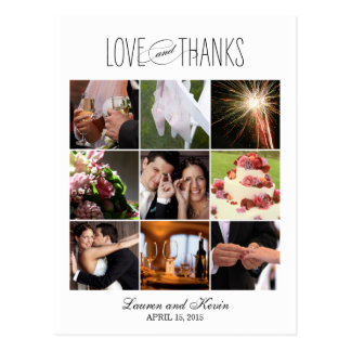 Sweet Memories Wedding Thank You Card Postcard