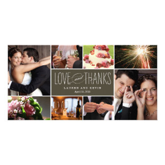 Sweet Memories Wedding Thank You Photo Cards Photo Card Template