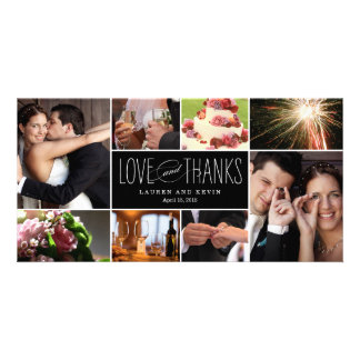 Sweet Memories Wedding Thank You Photo Cards Customized Photo Card