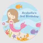 Sweet Mermaid Birthday Stickers