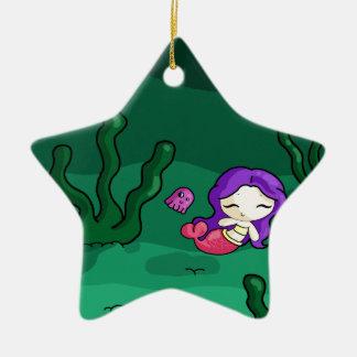 Sweet mermaid christmas ornament