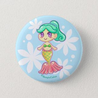 Sweet Mermaid Pinback Button (Teal)