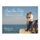 Sweet Modern Wedding Save the Date Photo Postcard