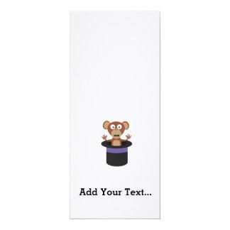 sweet monkey in hat 10 cm x 24 cm invitation card
