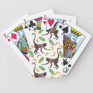 Sweet Monkeys Juggling Bananas Bicycle Playing Cards