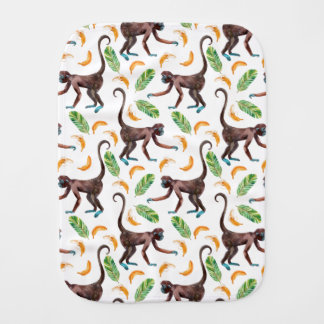 Sweet Monkeys Juggling Bananas Burp Cloth