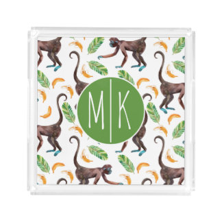 Sweet Monkeys Juggling Bananas | Monogram Acrylic Tray