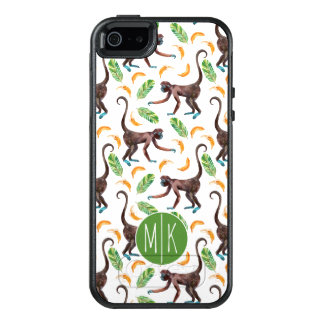 Sweet Monkeys Juggling Bananas | Monogram OtterBox iPhone 5/5s/SE Case