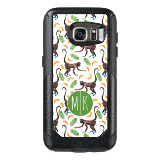 Sweet Monkeys Juggling Bananas | Monogram OtterBox Samsung Galaxy S7 Case
