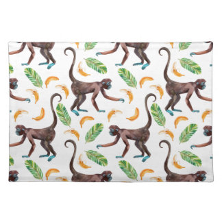 Sweet Monkeys Juggling Bananas Placemat