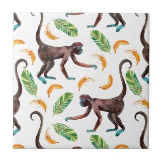 Sweet Monkeys Juggling Bananas Tile