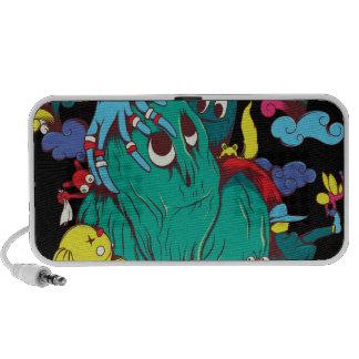 sweet monsters vector art portable speaker
