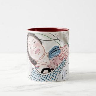 Sweet motherhood Two-Tone coffee mug