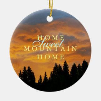 Sweet Mountain Home Rustic Christmas Christmas Ornament