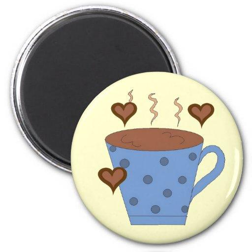 Sweet Mug of Coffee Fridge Magnets