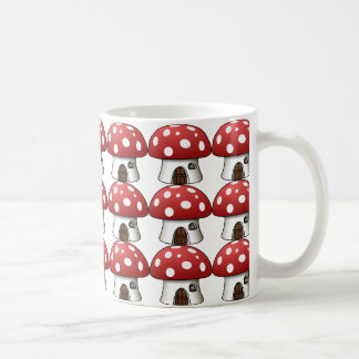 sweet mushrooms home, red-white. basic white mug
