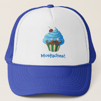 Sweet Mustached Cupcake Trucker Hat
