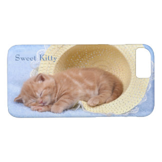 Sweet Napping Kitty Perfect Peaceful Cat iPhone 8/7 Case